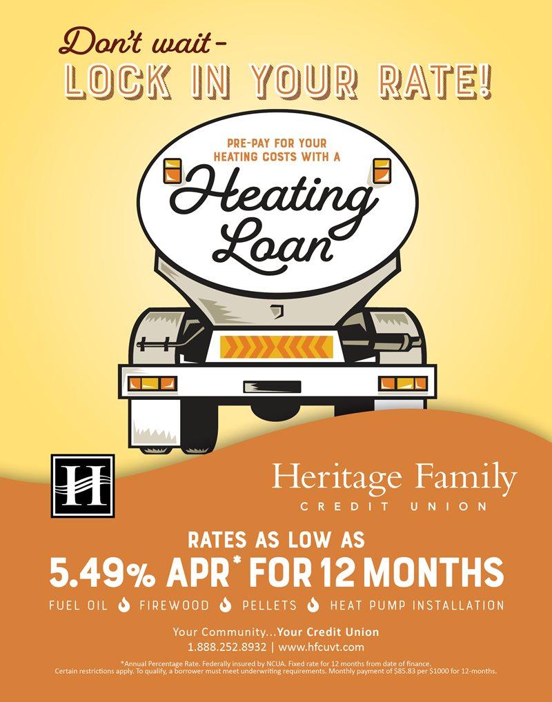 Don't wait - lock in your rate! Pre-pay for your heating costs with a Heating Loan.