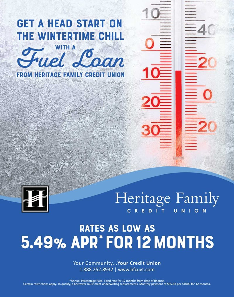 Get a head start on the wintertime chill with a fuel loan!