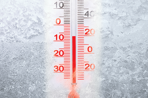 Image of frozen thermometer