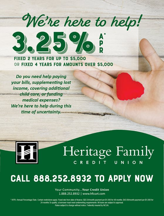 We're here to help! 3.25%25 APR* Fixed 2 Year Loan up to $5000 Or Fixed 4 Years for Amounts over $5,000
