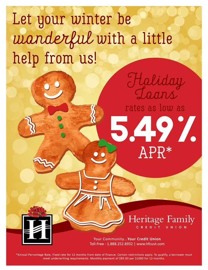 Heritage Family Credit Union Holiday Loans